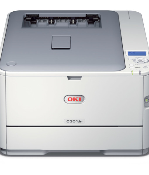 OKI-C301dn-Duplex-Network-A4-Colour-Laser-Printer-Front