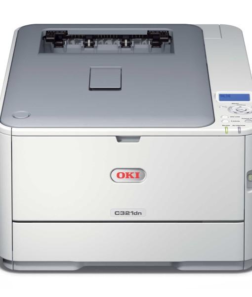 OKI-C321dn-Duplex-Network-A4-Colour-Laser-Printer-Front