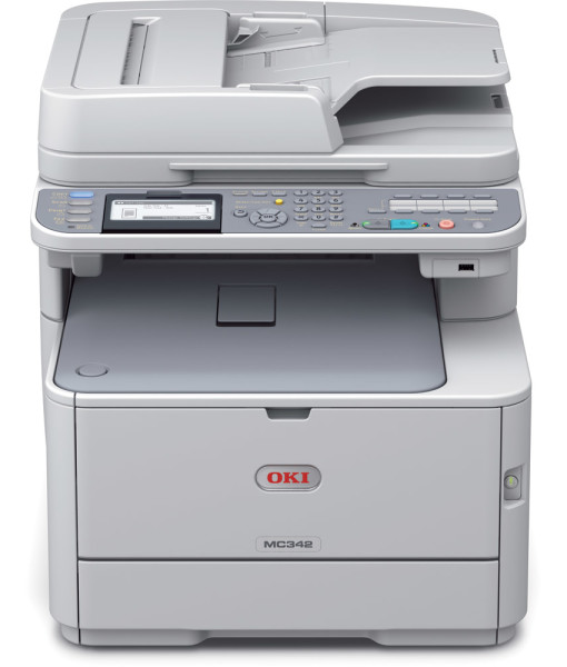OKI-MC342dn-Multi-Function-Duplex-Network-A4-Colour-Laser-Printer-Front