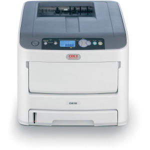 OKI-C610n-Network-A4-Colour-Laser-Printer-Front
