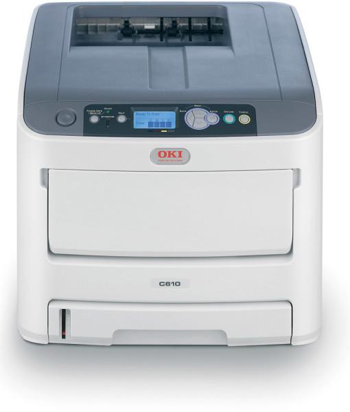 OKI-C610n-Network-A4-Colour-Laser-Printer-Front